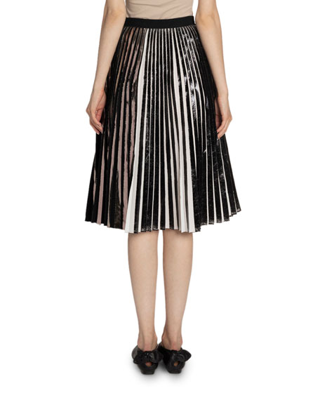 Image 2 of 2: Proenza Schouler Pleated Cloque Skirt