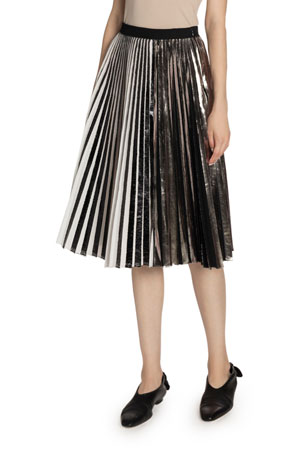 Proenza Schouler Pleated Cloque Skirt