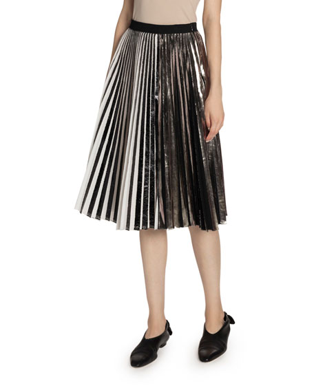 Image 1 of 2: Proenza Schouler Pleated Cloque Skirt