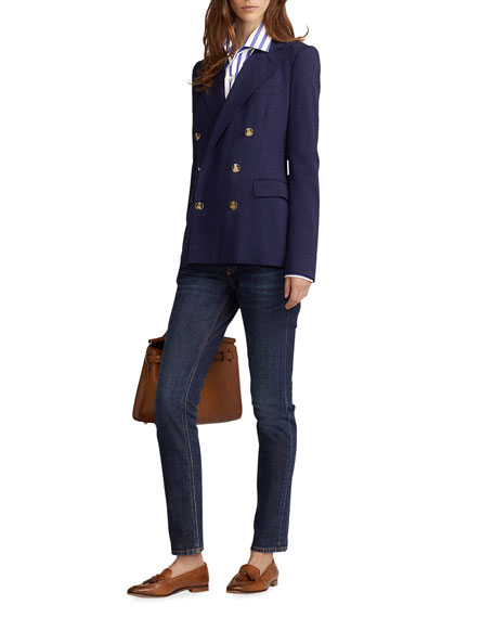 Image 1 of 2: Ralph Lauren Collection Camden Stretch-Wool Double-Breasted Jacket