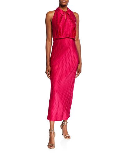 Sleeveless Keyhole Midi Dress