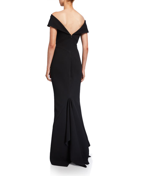 Image 2 of 2: Zac Posen Off-the-Shoulder Mermaid Gown