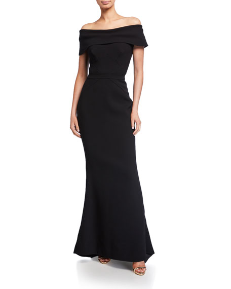 Image 1 of 2: Zac Posen Off-the-Shoulder Mermaid Gown