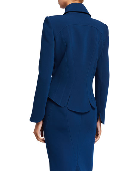 Image 2 of 2: Zac Posen Fitted Collared Jacket