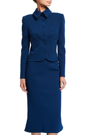 Zac Posen Fitted Collared Jacket