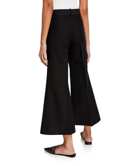 Khaite Andrea Wide-Leg Cotton Pants