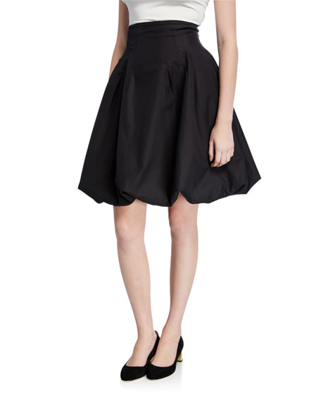 Khaite Tanya Poplin Bubble Skirt