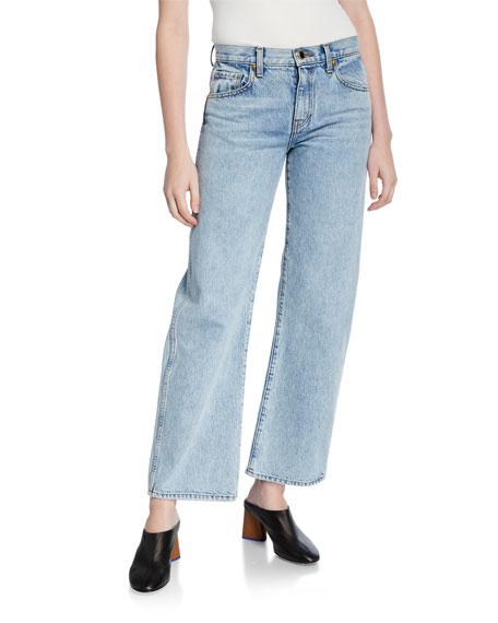 Khaite Kerrie Straight-Leg Crop Jeans
