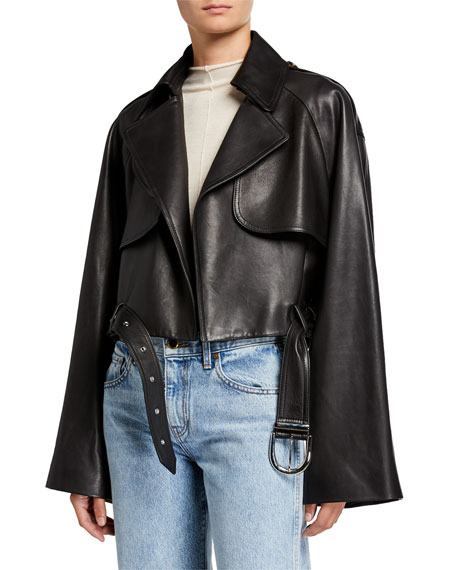 Khaite Krista Leather Moto Jacket