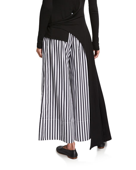 Image 2 of 3: Rosetta Getty Cotton Pleated Culottes