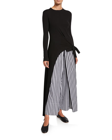 Image 3 of 3: Rosetta Getty Cotton Pleated Culottes