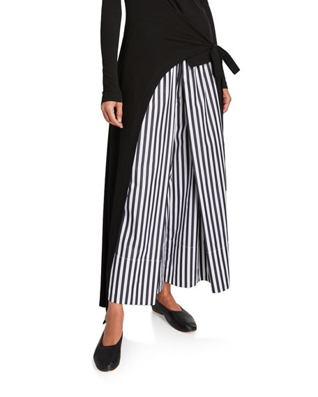 Image 1 of 3: Rosetta Getty Cotton Pleated Culottes