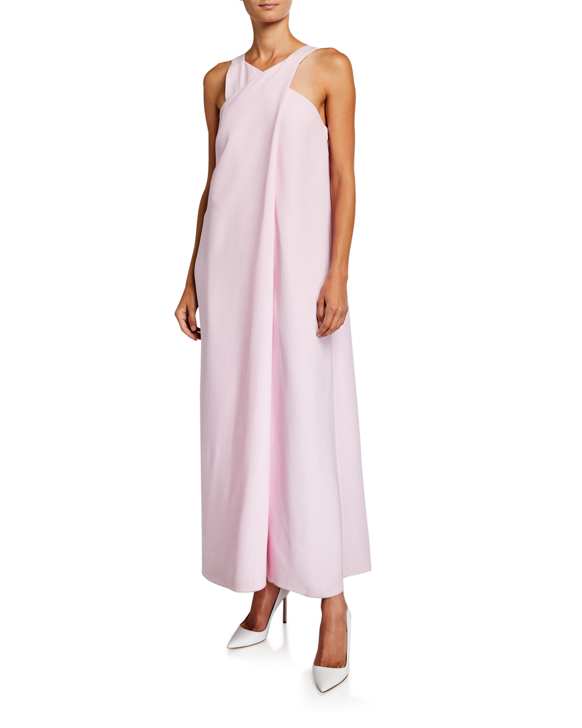 Rosetta Getty Sleeveless Crossover-Front Gown