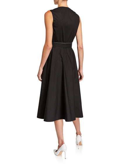 Rosetta Getty Cotton Belted Wrap Dress