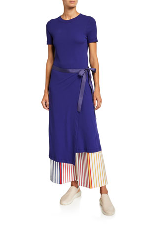 Rosetta Getty Short-Sleeve Apron T-Shirt