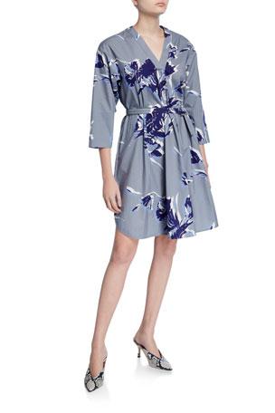Piazza Sempione Shirttail Hem V-Neck Dress