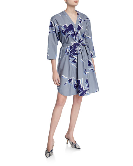 Image 1 of 2: Piazza Sempione Shirttail Hem V-Neck Dress