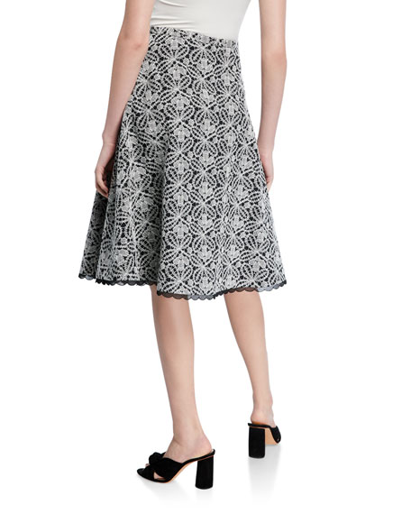 Piazza Sempione Lace Overlay Full Skirt