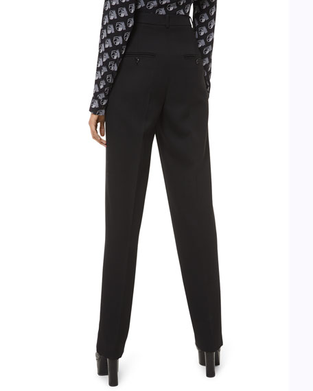 Michael Kors Collection High-Rise Straight-Leg Trousers