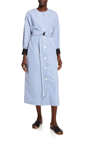 Partow Iris Striped Shirtdress