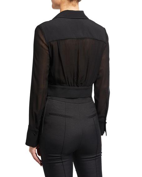 Maxmara Elenice Silk Shirt Jacket