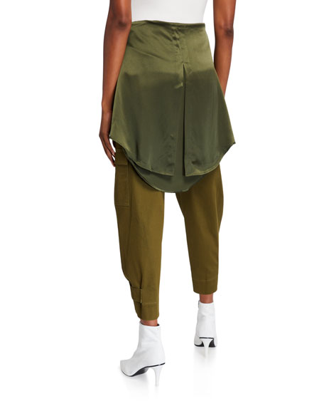 Image 2 of 3: Hellessy Holzer Satin-Trim Cargo Pants
