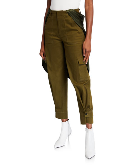 Image 1 of 3: Hellessy Holzer Satin-Trim Cargo Pants