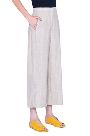 Akris punto Filip Washed Linen Pants