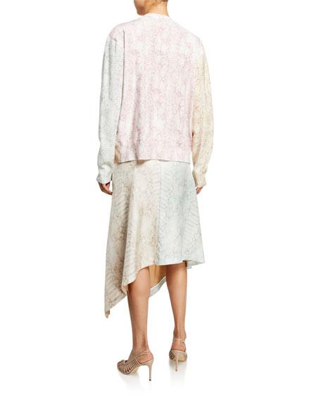Sies Marjan Snake Print V-Neck Cardigan Sweater