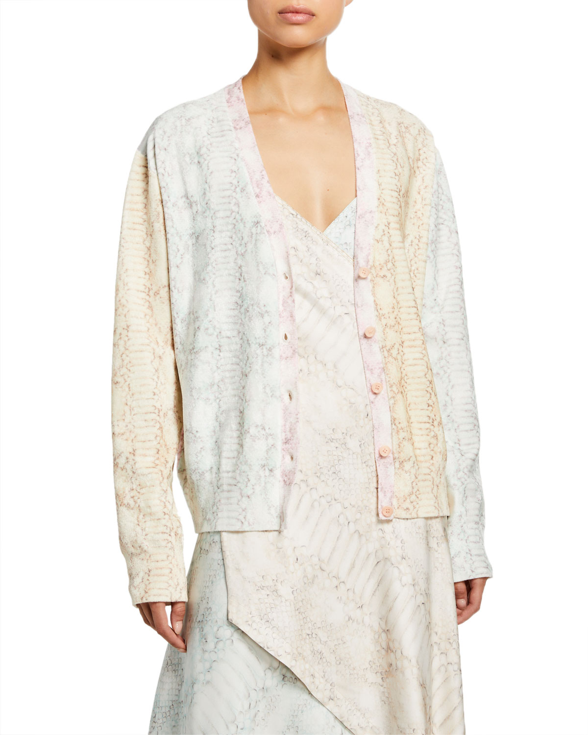 Sies Marjan Snake Print V-Neck Cardigan Sweater and Matching Items & Matching Items