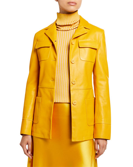 Sies Marjan Leather Collar Jacket