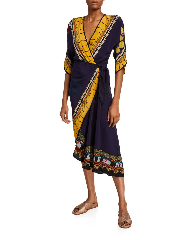Etro Garden of Eden Draped Side Dress