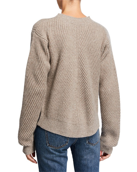 Image 2 of 2: Co Cashmere Chevron Ribbed Sweater