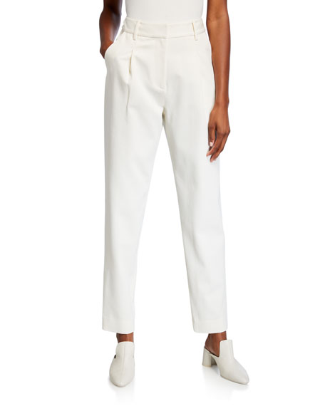 Co High-Rise Cotton/Wool Trousers