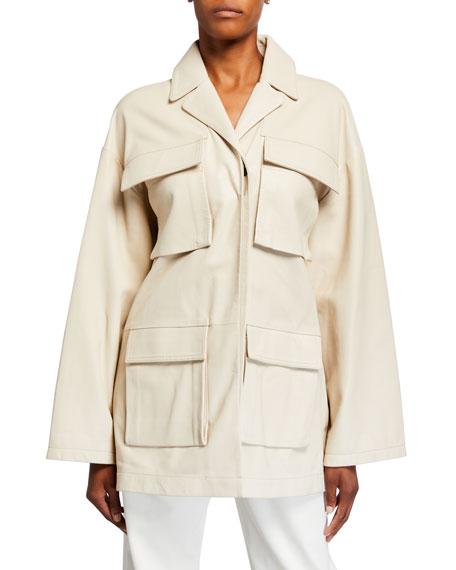 Co Leather Wrap Utility Jacket