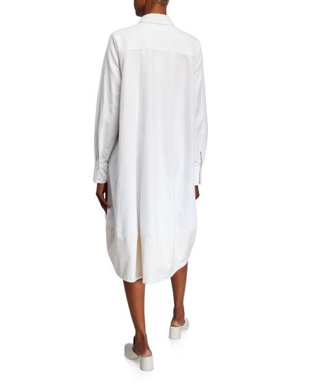 Co Bubble-Hem Shirtdress