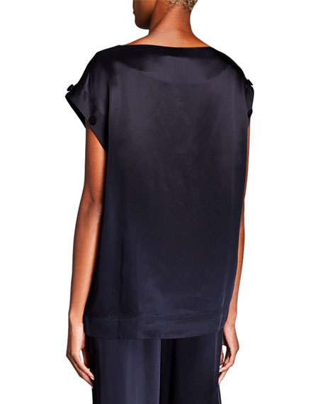Image 2 of 2: Co Removable Sleeve Blouse