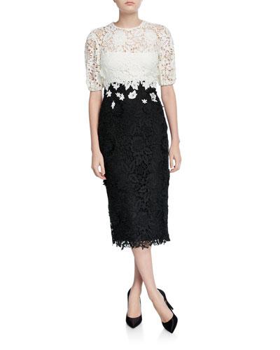 Blouson Bodice Sheath Dress