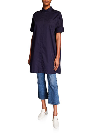 Co Cotton Half-Sleeve Tunic