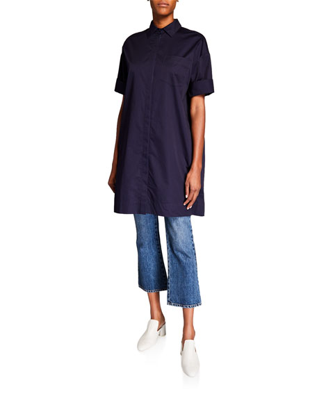 Image 1 of 3: Co Cotton Half-Sleeve Tunic