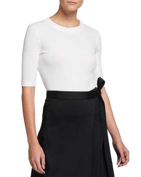 Rosetta Getty Cotton Cropped-Sleeve T-Shirt