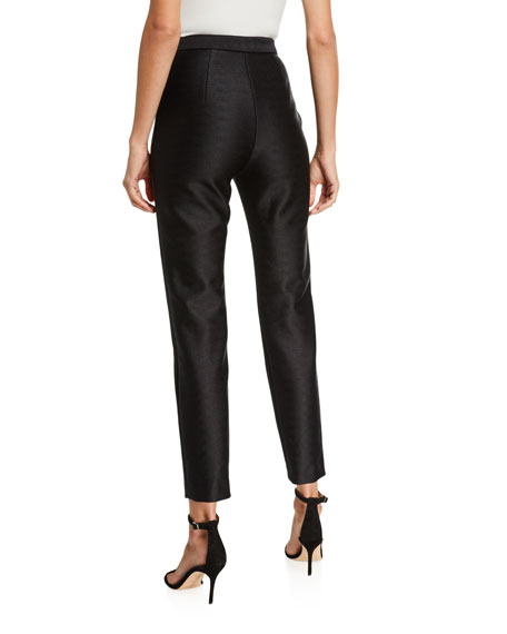 Image 2 of 3: Brandon Maxwell High Rise Cropped Skinny Pants