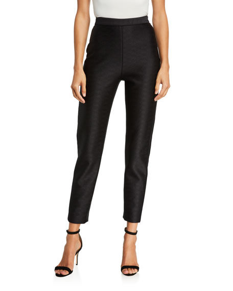 Image 1 of 3: Brandon Maxwell High Rise Cropped Skinny Pants