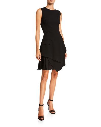 Sleeveless Asymmetrical Short A-Line Dress