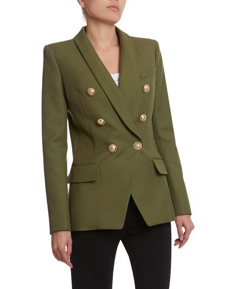 Balmain 6-Button Oversized Grain de Poudre Jacket