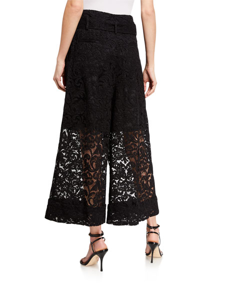 Image 2 of 3: Adam Lippes Corded Lace Culottes