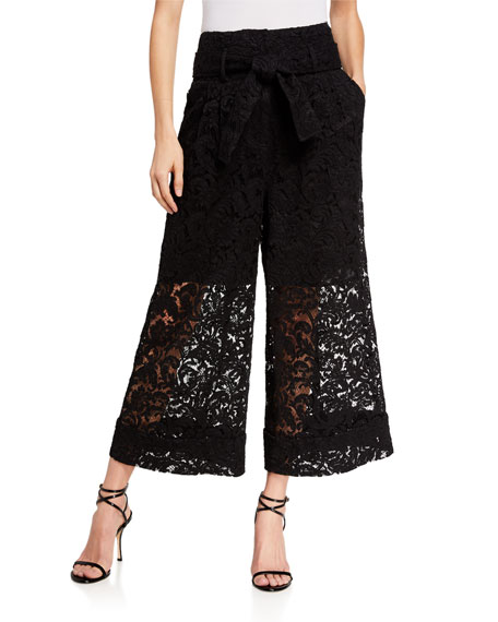Image 1 of 3: Adam Lippes Corded Lace Culottes