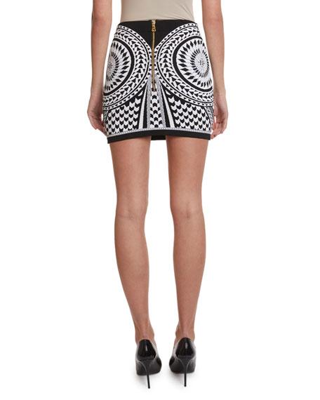 Balmain High-Rise Jacquard Skirt
