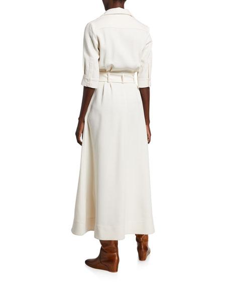 Gabriela Hearst Simone Double-Face Crepe Dress