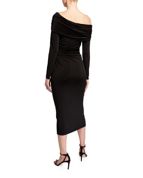 Jason Wu Collection Fluid-Jersey One-Shoulder Cocktail Dress